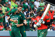 Wicket - Shaheen Afridi of Pakistan celebrates taking the wicket of Shakib Al Hasan (vc) of Bangladesh during the ICC Cricket World Cup 2019 match between Pakistan and Bangladesh at Lord's Cricket Ground, St John's Wood, United Kingdom on 5 July 2019.