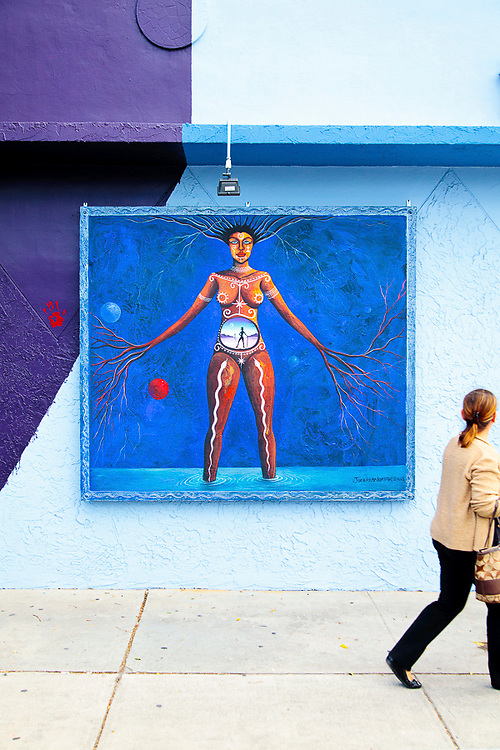 Haitian born artist Jude Papa Loko's studio/gallery  in Miami's Wynwood arts district