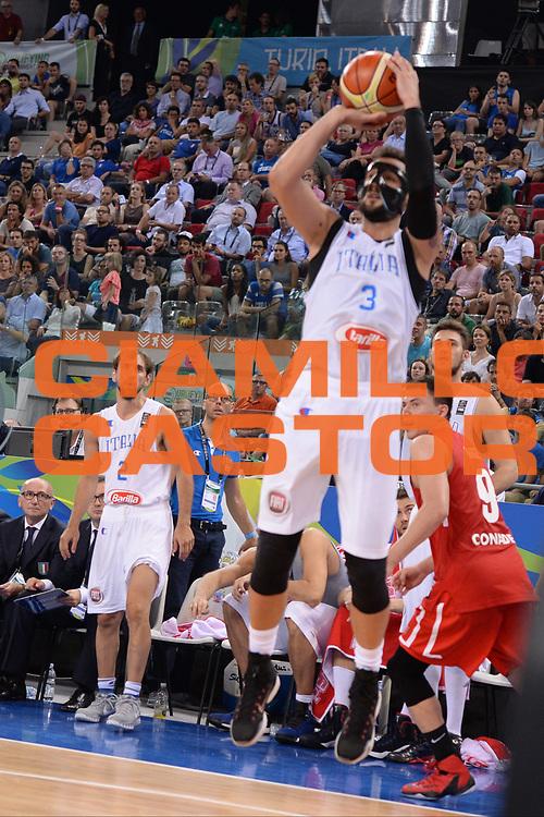 DESCRIZIONE: Torino FIBA Olympic Qualifying Tournament Semifinale Italia - Messico<br /> GIOCATORE: Marco Stefano Belinelli<br /> CATEGORIA: Nazionale Italiana Italia Maschile Senior<br /> GARA: FIBA Olympic Qualifying Tournament Semifinale Italia - Messico<br /> DATA: 08/07/2016<br /> AUTORE: Agenzia Ciamillo-Castoria