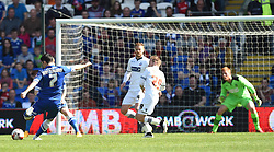 Cardiff City's Peter Whittingham takes a shot at the Bolton goal - Photo mandatory by-line: Paul Knight/JMP - Mobile: 07966 386802 - 06/04/2015 - SPORT - Football - Cardiff - Cardiff City Stadium - Cardiff City v Bolton Wanderers - Sky Bet Championship