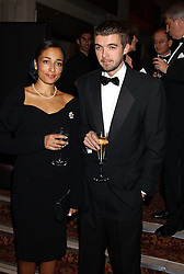 Writer ZADIE SMITH a finalist in the 2005 Man Booker Prize and poet NICK LAIRD at a dinner to announce the 2005 Man Booker Prize held at The Guilhall, City of London on 10th October 2005.<br />