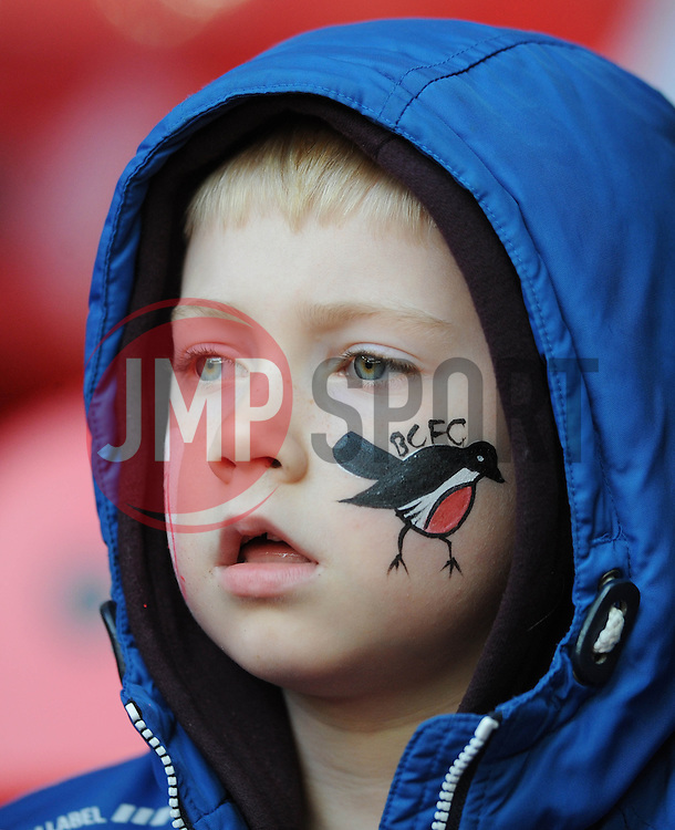 Bristol City fan - Photo mandatory by-line: Dougie Allward/JMP - Mobile: 07966 386802 - 22/03/2015 - SPORT - Football - London - Wembley Stadium - Bristol City v Walsall - Johnstone Paint Trophy Final