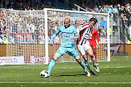 01-05-2016 VOETBAL:WILLEM II - FEYENOORDTILBURG<br /> Karim El Ahmadi van Feyenoord in duel met Lucas Andersen van Willem II <br /> <br /> <br /> Foto: Geert van Erven