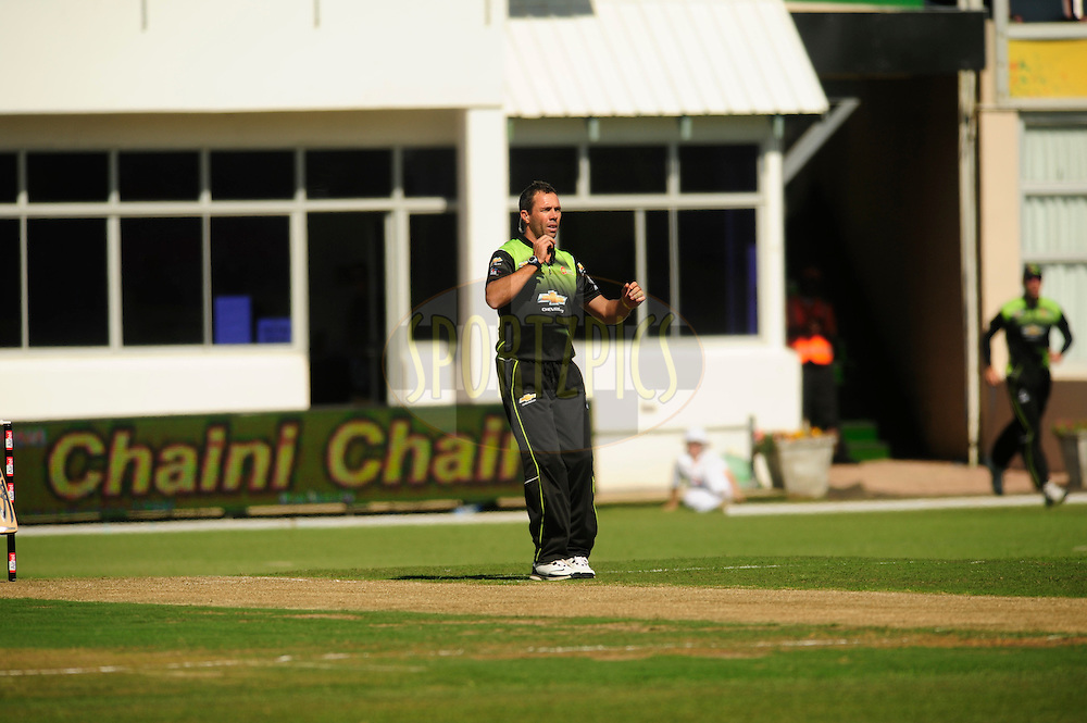Nicky Boje during match 2 of the Airtel CLT20 between The Warriors and The Wayamba Elevens held at St Georges Park in Port Elizabeth on the 11 September 2010..Photo by: Deryck Foster/SPORTZPICS/CLT20