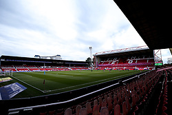 A general view of The City Ground during the behind closed doors Sky Bet Championship fixture between Nottingham Forest and Bristol City - Mandatory by-line: Robbie Stephenson/JMP - 01/07/2020 - FOOTBALL - The City Ground - Nottingham, England - Nottingham Forest v Bristol City - Sky Bet Championship