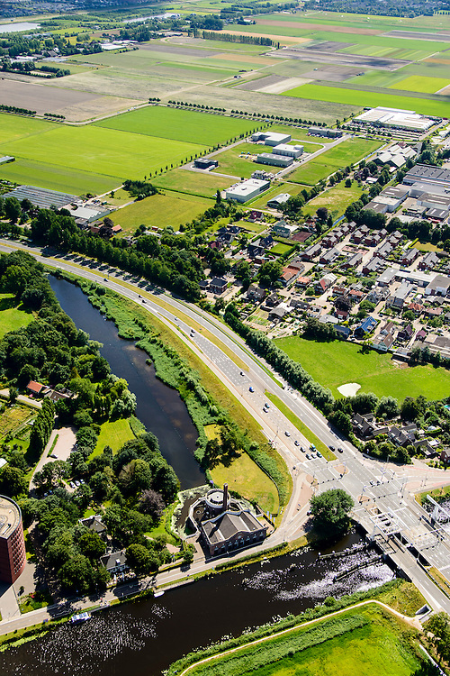 Nederland, Noord-Holland, Haarlemmermeer, 01-08-2016; voormalig stoomgemaal de Cruquius in de Haarlemmermeer. Het gemaal is gebruikt om de polder droog te leggen en is nu een museum.<br /> Former pumping station Cruquius in Haarlemmermeer. The pumping station was used to drain the polder Haarlemmermeer and is now a museum.<br /> luchtfoto (toeslag op standard tarieven);<br /> aerial photo (additional fee required);<br /> copyright foto/photo Siebe Swart