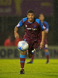BRISTOL, ENGLAND - Tuesday, September 28, 2010: Tranmere Rovers' Joss Labadie in action against Bristol Rovers during the Football League One match at the Memorial Ground. (Photo by David Rawcliffe/Propaganda)