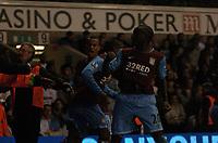 Photo: Tony Oudot.<br /> Tottenham Hotspur v Aston Villa. The FA Barclays Premiership. 01/10/2007.<br /> Aston Villa celebrate Craig Gardners goal