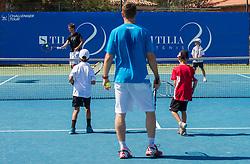 Aljaz Bedene of Slovenia at Kids day during Day Five of tennis tournament ATP Challenger Tilia Slovenia Open 2013 on July 6, 2013 in SRC Marina, Portoroz / Portorose, Slovenia. (Photo by Vid Ponikvar / Sportida.com)