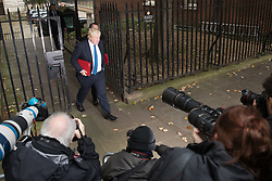 © Licensed to London News Pictures. 10/10/2017. Foreign Secretary Boris Johnson passes photographers as he attends the weekly cabinet meeting in Downing Street. London, UK. Photo credit: Peter Macdiarmid/LNP