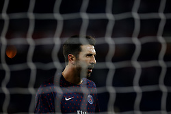 November 2, 2018 - Paris, Ile-de-France, France - Gianluigi Buffon attends the soccer match game between PSG and Lille at the Parc de Prince, in Paris, France. On November 2, 2018. (Photo by Mehdi Taamallah / Nurphoto) (Credit Image: © Mehdi Taamallah/NurPhoto via ZUMA Press)