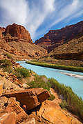 The Little Colorado River in Grand Canyon National Park near its confluence with the Colorado River at mile 62.