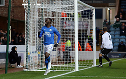 Mohamed Eisa of Peterborough United celebrates scoring his goal against Dover Athletic - Mandatory by-line: Joe Dent/JMP - 01/12/2019 - FOOTBALL - Weston Homes Stadium - Peterborough, England - Peterborough United v Dover Athletic - Emirates FA Cup second round