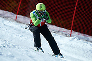 """Schladming, Austria - 2017 March 21: Enric-Josep Adran Nieto from Andorra (1) competes in Alpine Skiing Competition while Special Olympics World Winter Games Austria 2017 on the """"Sepp-Walcher-Downhill"""" (Slope 32) near the """"Tauernalm"""" in Rohrmoos on March 21, 2017 in Schladming, Austria.<br /> <br /> Mandatory credit:<br /> Photo by © Adam Nurkiewicz / Mediasport<br /> <br /> Adam Nurkiewicz declares that he has no rights to the image of people at the photographs of his authorship.<br /> <br /> Picture also available in RAW (NEF) or TIFF format on special request.<br /> <br /> Any editorial, commercial or promotional use requires written permission from the author of image.<br /> <br /> Image can be used in the press when the method of use and the signature does not hurt people on the picture."""