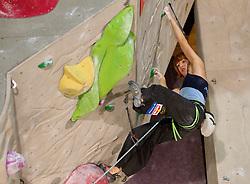 Natalija Gros of Slovenia during Final IFSC World Cup Competition in sport climbing Kranj 2010, on November 14, 2010 in Arena Zlato polje, Kranj, Slovenia. (Photo By Vid Ponikvar / Sportida.com)