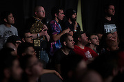 Fans look on during NXT Takeover: Dallas on April 1, 2016 in Dallas, Texas.