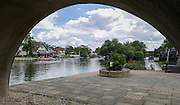 Maidenhead, ENGLAND   Maidenhead Town Regatta, River Thames. General View of Maidenhead Rowing Club with crews boating to compete in the regatta 16:59:50  Saturday  08/08/2015   [Mandatory Credit. Peter SPURRIER/ Intersport Images.