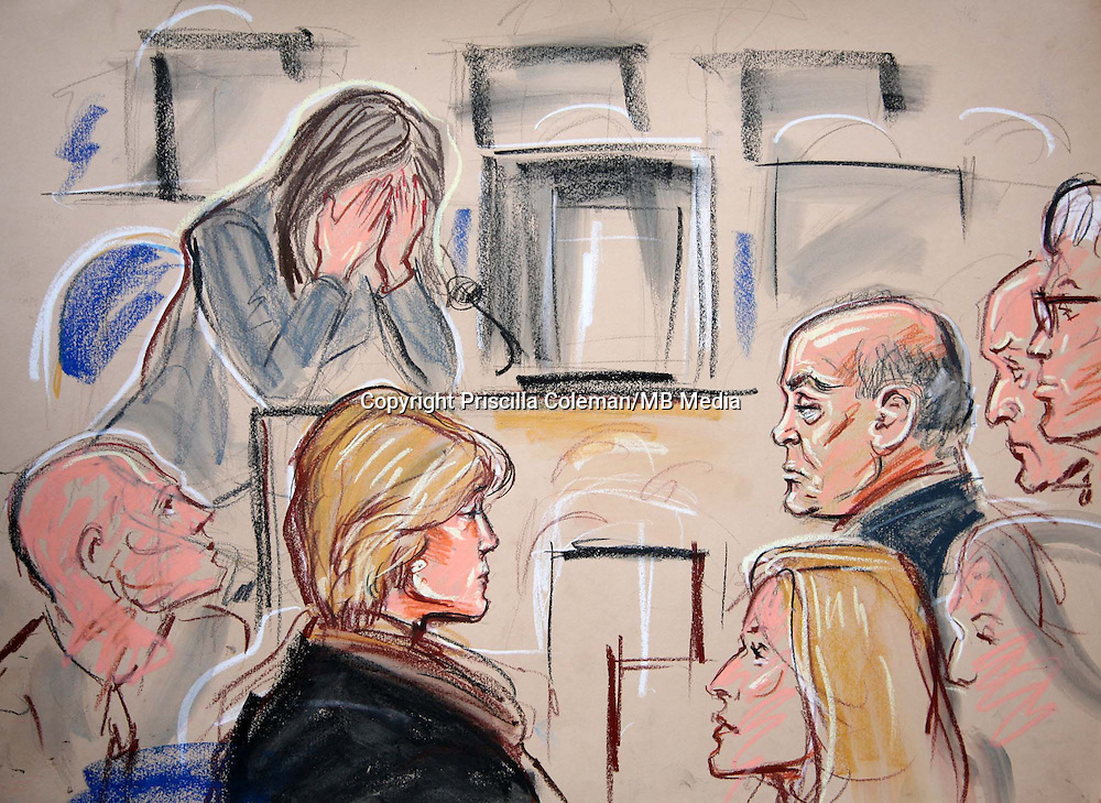 ARTWORK SHOWS: THE SCENE AT THE HIGH COURT LONDON, WHERE THE JURYI N THE INQUEST INTO THE DEATH OF PRINCESS DIANA AND DODI FAYED REACHED A VERDICT OF UNLAWFULL KILLING