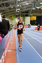 New Balance Indoor Grand Prix track meet: Women's 2 Mile, Mary Cain, High School, after setting national record
