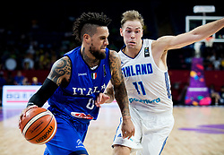 Daniel Hackett of Italy vs Petteri Koponen of Finland during basketball match between National Teams of Finland and Italy at Day 10 in Round of 16 of the FIBA EuroBasket 2017 at Sinan Erdem Dome in Istanbul, Turkey on September 9, 2017. Photo by Vid Ponikvar / Sportida