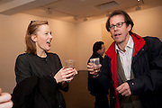 LIZ CALZIA; CONSTANTIN WINDISCH-GRAETZ, 'Engagement' exhibition of work by Jennifer Rubell. Stephen Friedman Gallery. London. 7 February 2011. -DO NOT ARCHIVE-© Copyright Photograph by Dafydd Jones. 248 Clapham Rd. London SW9 0PZ. Tel 0207 820 0771. www.dafjones.com.