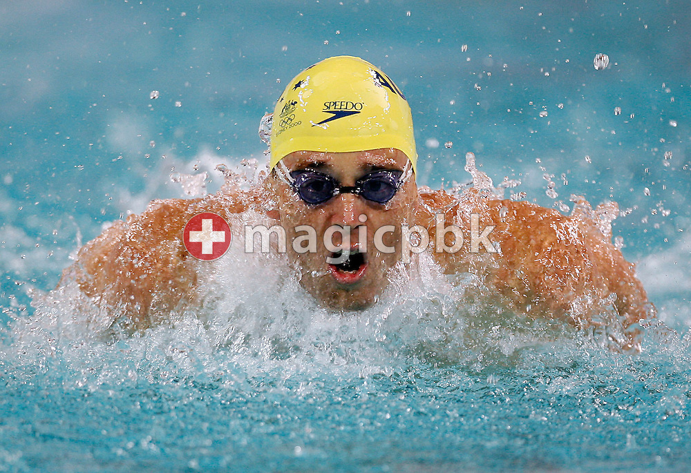 Adam PINE of Australia competes in the men's 100m Butterfly final during day two of the 8th FINA World Swimming Championships (25m) held at Qi Zhong Stadium April 6th, 2006 in Shanghai, China. (Photo by Patrick B. Kraemer / MAGICPBK)