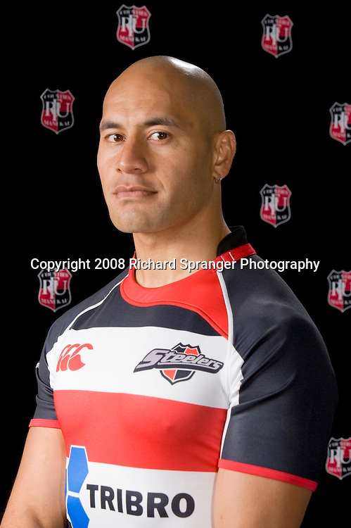 Tanner Vili. Counties-Manukau Steelers ANZ Cup Rugby headshots 2008. Photo: Richard Spranger Photography/PHOTOSPORT