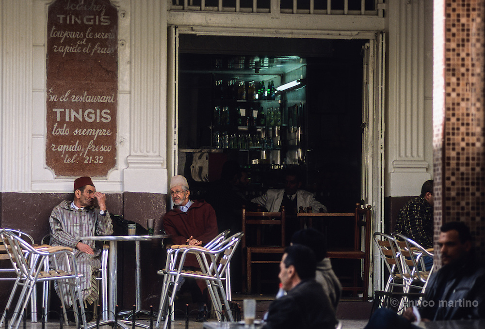 Tangier,  traditional, and historical, Cafè Tingis in the heart of medina, Petit Soccò square.