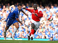 Photo: Ed Godden.<br />Chelsea v Charlton Athletic. The Barclays Premiership. 09/09/2006. Michael Ballack (L) chases Charlton's Jimmy Floyd Hasselbaink.
