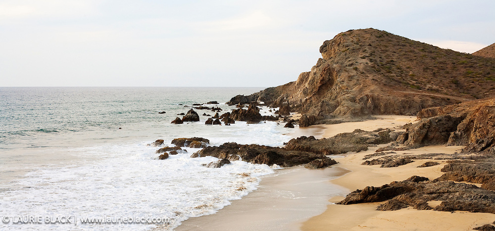 Tranquil beach scene in Baja fine art photograph