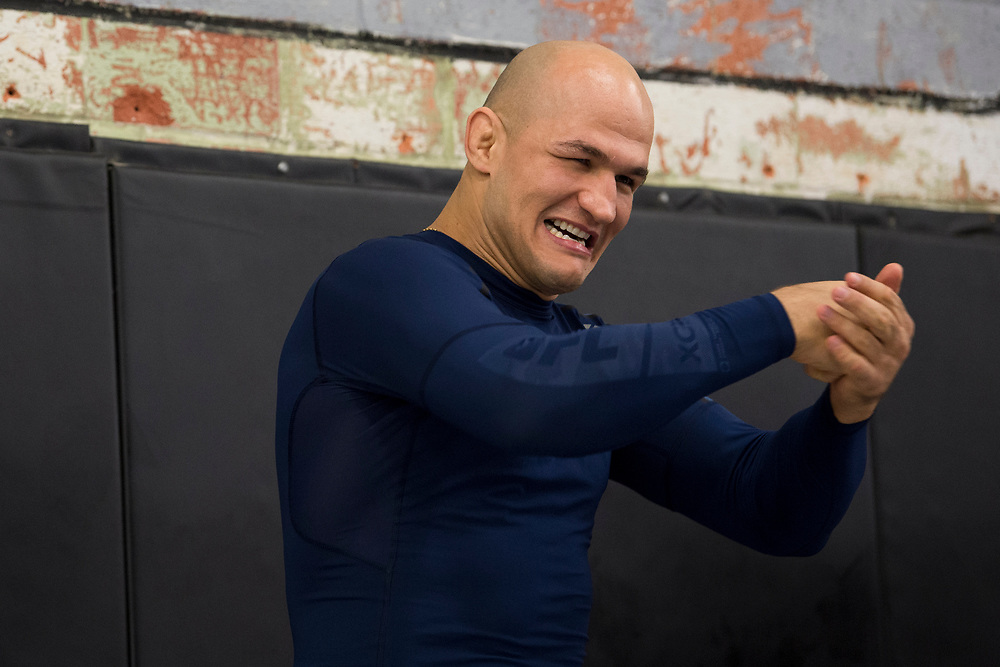 DALLAS, TX - MAY 11:  Junior dos Santos holds an open workout for the fans and media at Mohler MMA - Brazilian Jiu-Jitsu & Boxing on May 11, 2017 in Dallas, Texas. (Photo by Cooper Neill/Zuffa LLC/Zuffa LLC via Getty Images) *** Local Caption *** Junior dos Santos