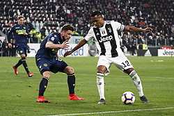 March 8, 2019 - Turin, Italy - Juventus defender Alex Sandro (12) in action during the Serie A football match n.27 JUVENTUS - UDINESE on 08/03/2019 at the Allianz Stadium in Turin, Italy. (Credit Image: © Matteo Bottanelli/NurPhoto via ZUMA Press)