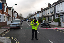 © Licensed to London News Pictures. 07/11/2018. White City, London, UK. Police redirect members of the public as they seal off the scene of a serious assault in west London. A teenage boy became the latest victim in a spate of knife attacks across the capital. The boy was stabbed this afternoon on Willow Vale, off Uxbridge Road in White City. He is understood to be seriously ill in hospital after being found with life threatening injuries. Within two hours in a separate incident, a man was stabbed in Hackney, east London. Photo credit Guilhem Baker/LNP
