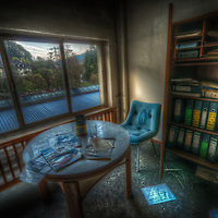 Old abandoned paper mill in the Black forest with filing on shelves