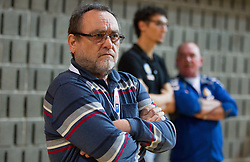 Franc Krasovec, president of Cimos Koper during handball match between RK Cimos Koper and HCM Constanta in 10th Round of season 2011/2012 of EHF Men's Champions League, on February 25, 2012 in Arena Bonifika, Koper, Slovenia. Cimos Koper defeated Constanta 28-24. (Photo By Vid Ponikvar / Sportida.com)