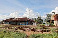 Train station in Artemisa, Cuba.