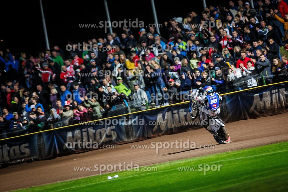 PETER KILDEMAND of Denmark after winning the FIM Speedway Grand Prix World Cup, Krsko, on 30. April, 2016, in Sports park Krsko, Slovenia. Photo by Grega Valancic / Sportida