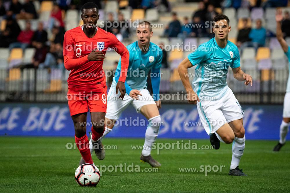 Edward Nketiah of England during friendly Football match between U21 national teams of Slovenia and England, on October 11, 2019 in Ljudski Vrt, Maribor, Slovenia. Photo by Blaž Weindorfer / Sportida