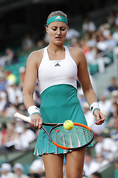May 29, 2017 - Paris, Ile de France, France - Kristina MLADENOVIC (FRA), recuperation de balle pour service (Credit Image: © Panoramic via ZUMA Press)
