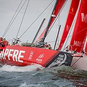 © Maria Muina I MAPFRE. Arrival Leg 11 to The Hague. Llegada de la etapa 11 a La Haya.