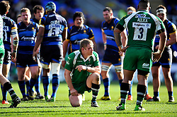 Tom Court of London Irish looks on during a break in play - Mandatory byline: Patrick Khachfe/JMP - 07966 386802 - 07/02/2016 - RUGBY UNION - Madejski Stadium - Reading, England - London Irish v Worcester Warriors - Aviva Premiership.