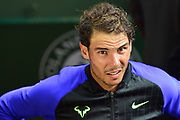 Rafael Nadal (ESP) after his mens singles third round win during the preliminary rounds of the Roland Garros Tennis Open 2017 at Roland Garros Stadium, Paris, France on 2 June 2017. Photo by Jon Bromley.
