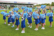 The Gloucester Wildcats cheerleaders during the Vanarama National League match between Forest Green Rovers and Barrow at the New Lawn, Forest Green, United Kingdom on 1 October 2016. Photo by Shane Healey.