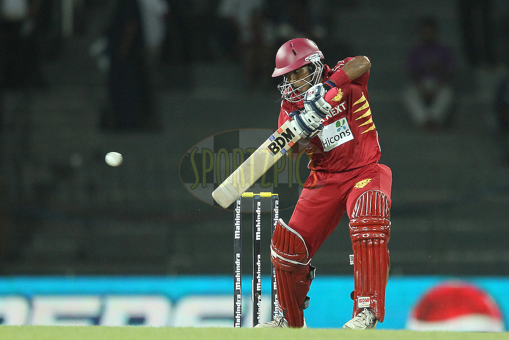 Dilshan Munaweera during the first Semi Final Match of the Sri Lankan Premier League between Uva Next and Wayamba United held at the Premadasa Stadium in Colombo, Sri Lanka on the 28th August 2012. .Photo by Ron Gaunt/SPORTZPICS/SLPL
