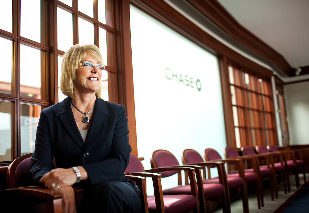 Deborah Walden is the Executive Vice President Customer Experience Chase Card Services at JP Morgan Chase. She was pictured at the company's headquarters in Wilmington, DE.