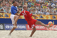 Footbal-FIFA Beach Soccer World Cup 2006 -  Oficial Games BRA x POL - Buru and Wodjciech Polakowiski - 03/11/2006.<br />Mandatory Credit: FIFA/Ricardo Ayres