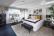 Contemporary Master Bedroom Stock Photo