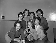 """15/12/1959<br /> 12/15/1959<br /> 15 December 1959<br /> <br /> Some of the """"Hello Girls"""" who will have to remain on duty at the Dublin P.O. exchange to connect greeting calls on Christmas day."""