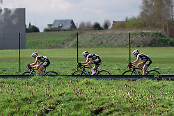 Topsport Vlaanderen Etixx riding as a team - Grand Prix de Dottignies 2016. A 117km road race starting and finishing in Dottignies, Belgium on April 4th 2016.