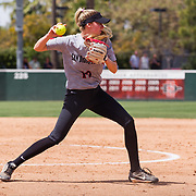 31 March 2018: The San Diego State softball drops the series finale with Boise State 11-1  Saturday afternoon at the Aztec softball stadium.<br /> More game action at sdsuaztecphotos.com
